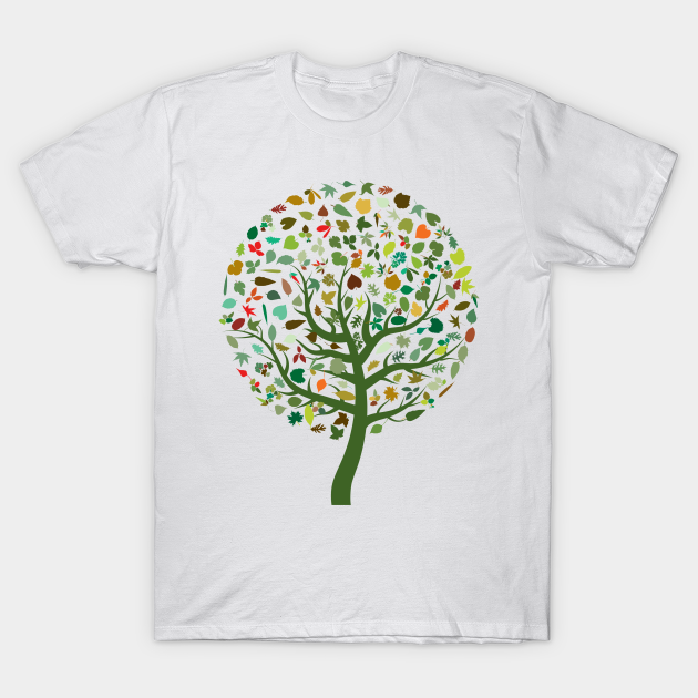 Colorful Abstract Tree T-Shirt AL9N0
