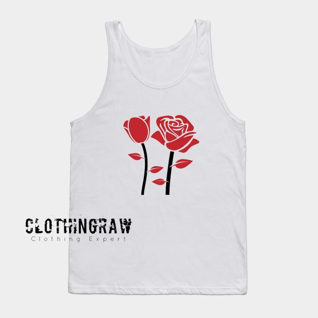 Red Rose Flowers Tank Top AL10D0