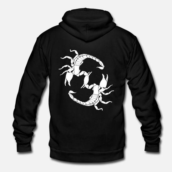 'Scorpion' Unisex Fleece Zip Hoodie GN1M1