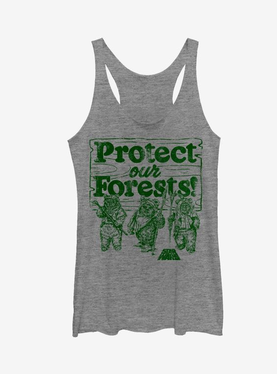 Star Wars Protect Our Forests Girls Tank Top AG8MA1
