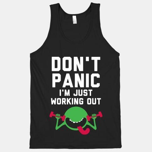 Dont Panic Tank Top EL15A1